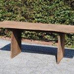 Gartentisch aus 200 Jahre alter Eiche, 160 cm x 80cm, unbehandelt