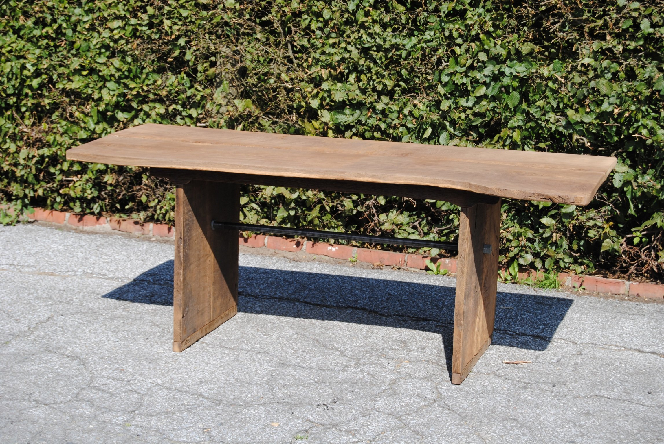 GartenmObel Holz Unbehandelt ~ Gartentisch aus 200 Jahre alter Eiche, 160 cm x 80cm, unbehandelt