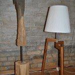 Stehlampe, Gestell aus Eiche in verschiedenen Groessen erhältlich.
