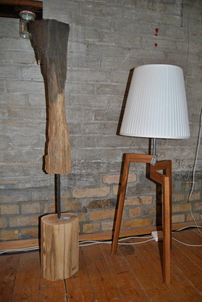 stehlampe gestell aus eiche in verschiedenen groessen. Black Bedroom Furniture Sets. Home Design Ideas
