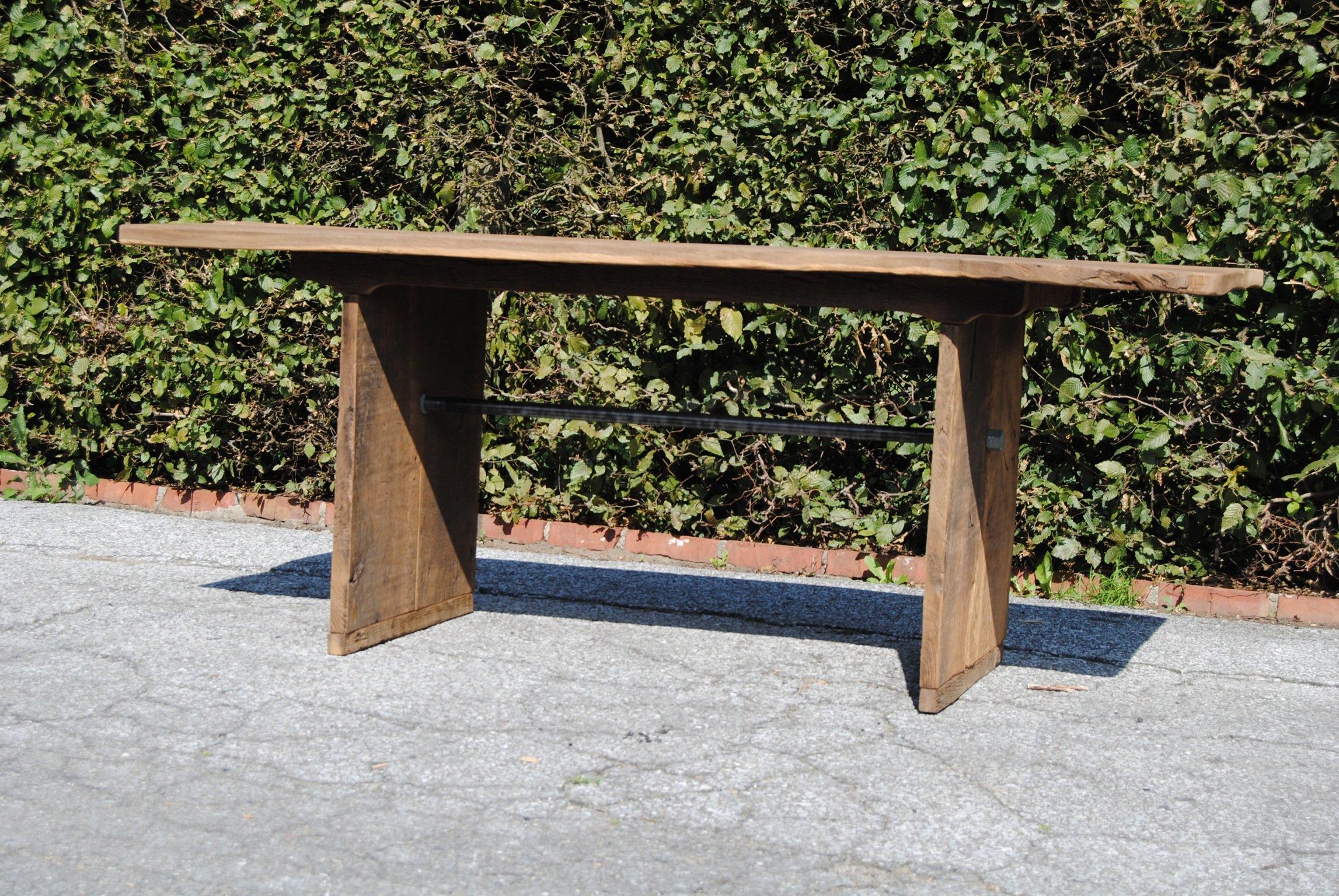 Gartentisch Aus 200 Jahre Alter Eiche 160 Cm X 80cm Unbehandelt