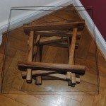 Couch- oder Beistelltisch, Gestell aus Eiche , geölt, Tischplatte aus 10 mm Floatglas 60 x 60 cm, alle Groessen lieferbar
