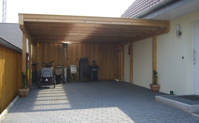 carports schuppen konzepte aus holz. Black Bedroom Furniture Sets. Home Design Ideas