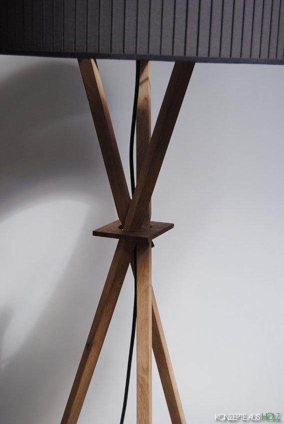 stehlampe the knot konzepte aus holz. Black Bedroom Furniture Sets. Home Design Ideas